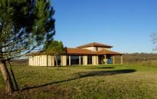 Maison ossature bois en position dominante sur 2 hectares